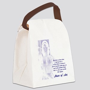 Joan of Arc - One Life Canvas Lunch Bag