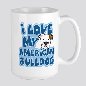 I Love my American Bulldog Stainless Steel Travel