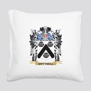 Cottrell Coat of Arms - Famil Square Canvas Pillow