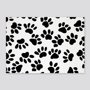 Paw Prints 5'x7'Area Rug