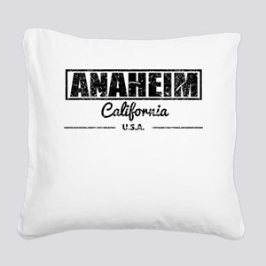 Anaheim California Square Canvas Pillow