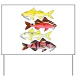 Four Indo-Pacific Goatfish Yard Sign