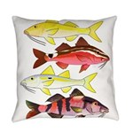 Four Indo-Pacific Goatfish Everyday Pillow