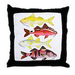 Four Indo-Pacific Goatfish Throw Pillow