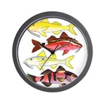 Four Indo-Pacific Goatfish Wall Clock