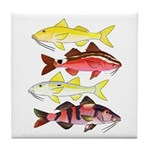Four Indo-Pacific Goatfish Tile Coaster