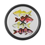 Four Indo-Pacific Goatfish Large Wall Clock