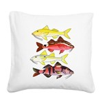 Four Indo-Pacific Goatfish Square Canvas Pillow