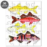 Four Indo-Pacific Goatfish Puzzle
