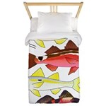 Four Indo-Pacific Goatfish Twin Duvet