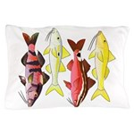 Four Indo-Pacific Goatfish Pillow Case