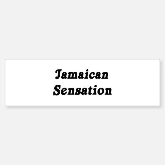 Jamaican Sensation Bumper Bumper Bumper Sticker