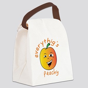 EVERYTHING'S PEACHY Canvas Lunch Bag