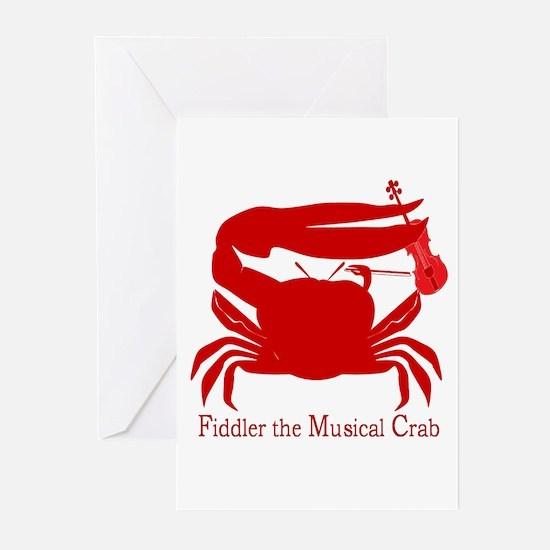 Musical Fiddler Crab Greeting Cards