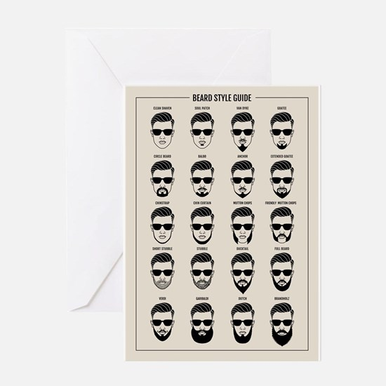 beard style guide Greeting Cards