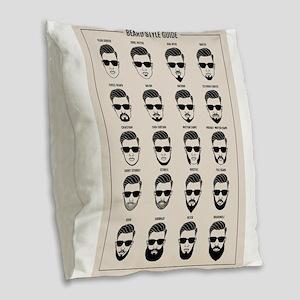 beard style guide Burlap Throw Pillow