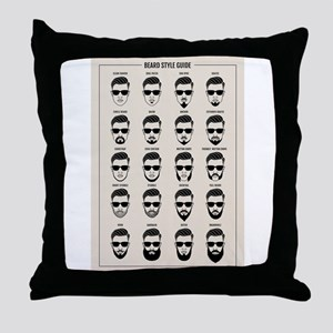 beard style guide Throw Pillow