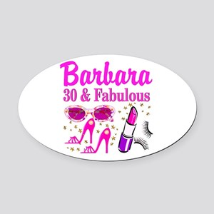 30TH PRIMA DONNA Oval Car Magnet