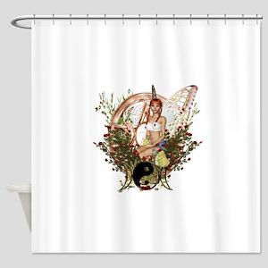 Pentacle Triple Moon Symbol 1 Shower Curtain