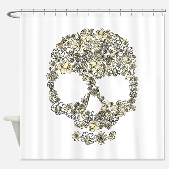 Vintage Skull Shower Curtain