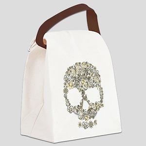 Vintage Skull Canvas Lunch Bag