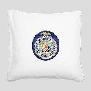Bureau of Indian Affairs Acad Square Canvas Pillow