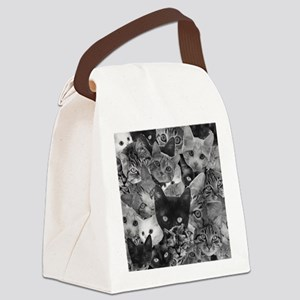 Kitty Collage Canvas Lunch Bag