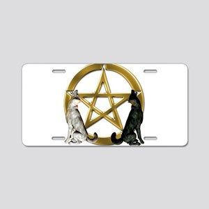 Wolf Pentacle Pentagram Aluminum License Plate