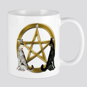 Wolf Pentacle Pentagram Mugs