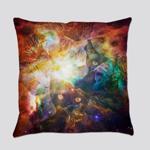 The Cat Galaxy Everyday Pillow