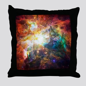 The Cat Galaxy Throw Pillow