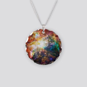 The Cat Galaxy Necklace Circle Charm