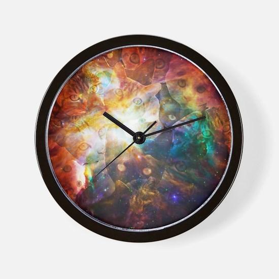The Cat Galaxy Wall Clock