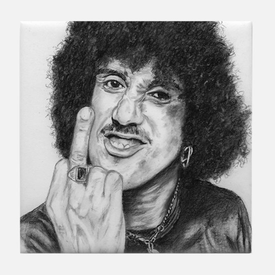 Phil Lynott Tile Coaster