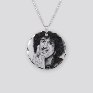 Phil Lynott Necklace Circle Charm