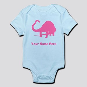 Diplodocus Silhouette (Pink) Body Suit