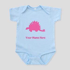 Stegosaurus Silhouette (Pink) Body Suit