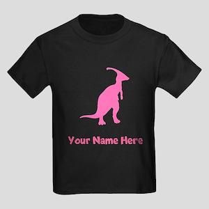 Parasaurolophus Silhouette (Pink) T-Shirt