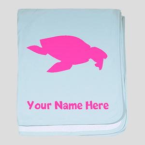 Archelon Ischyros Silhouette (Pink) baby blanket
