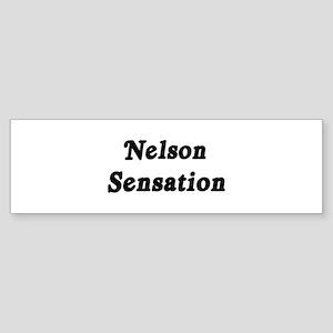 Nelson Sensation Bumper Sticker