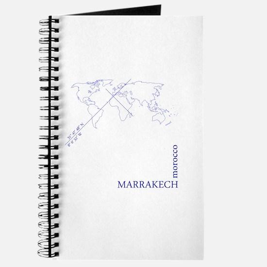 Marrakech geocode map (Blue) Journal