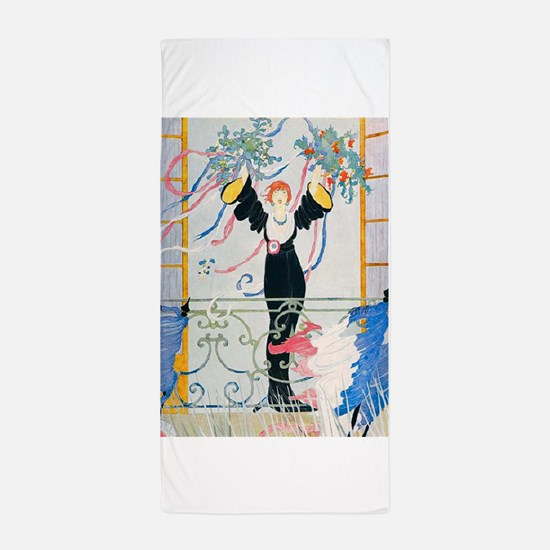 VOGUE - Peace and Victory in France Beach Towel