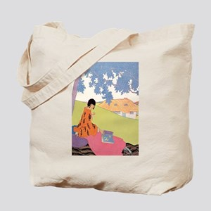 VOGUE - Woman Reading in the Shade Tote Bag