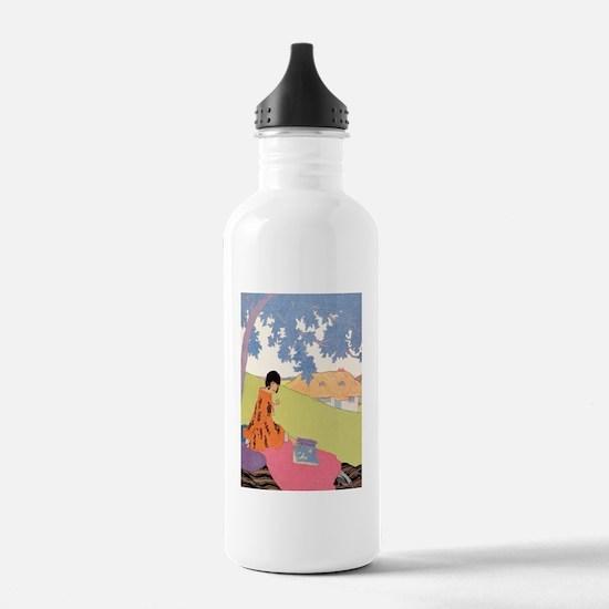 VOGUE - Woman Reading Water Bottle