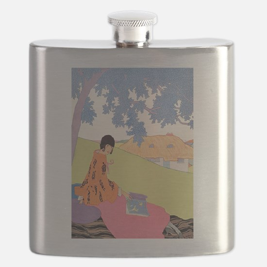 VOGUE - Woman Reading in the Shade Flask