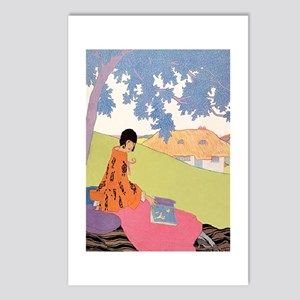 VOGUE - Woman Reading in Postcards (Package of 8)