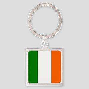 Borderless Square irish Flag Keychains