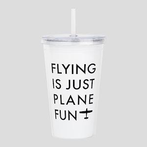 Plane Fun Flying 1504 Acrylic Double-wall Tumbler
