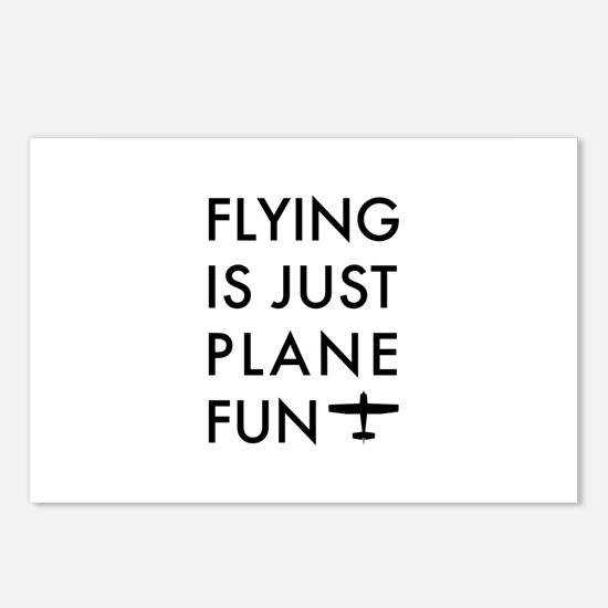 Plane Fun Flying 1504 Postcards (Package of 8)