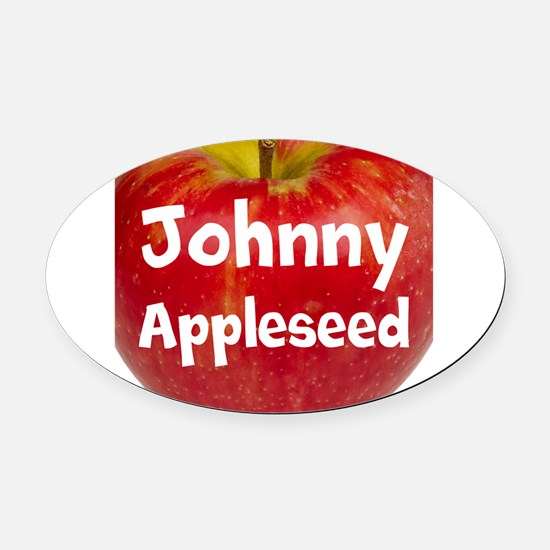 Johnny Appleseed Oval Car Magnet
